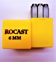 Punção Numérico 6 mm 9 pçs Rocast