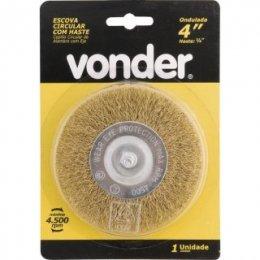 Escova Circular 4 X 1/2 Haste De 1/4 para Furadeira Vonder