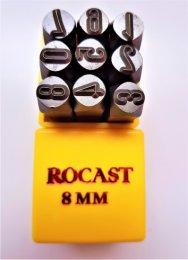 Punção Numérico 8 mm 9 pçs Rocast