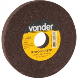 Rebolo Reto 6 Pol X 3/4 Pol Fino Vonder